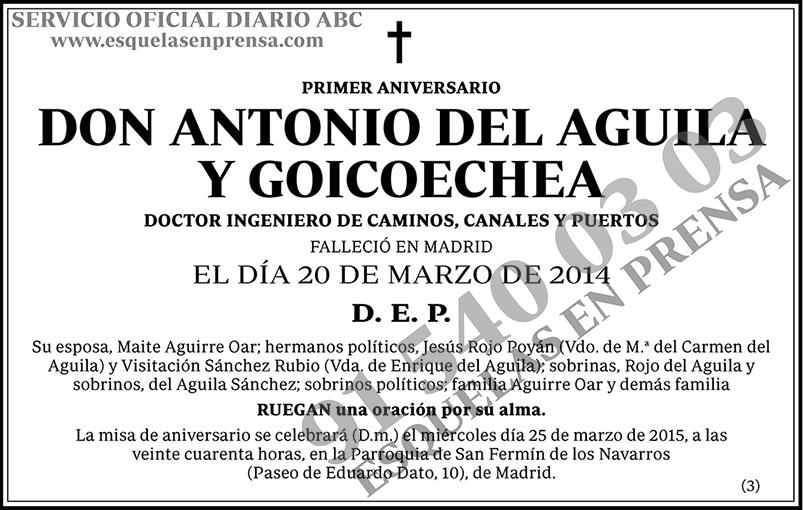 Antonio del Aguila y Goicoechea